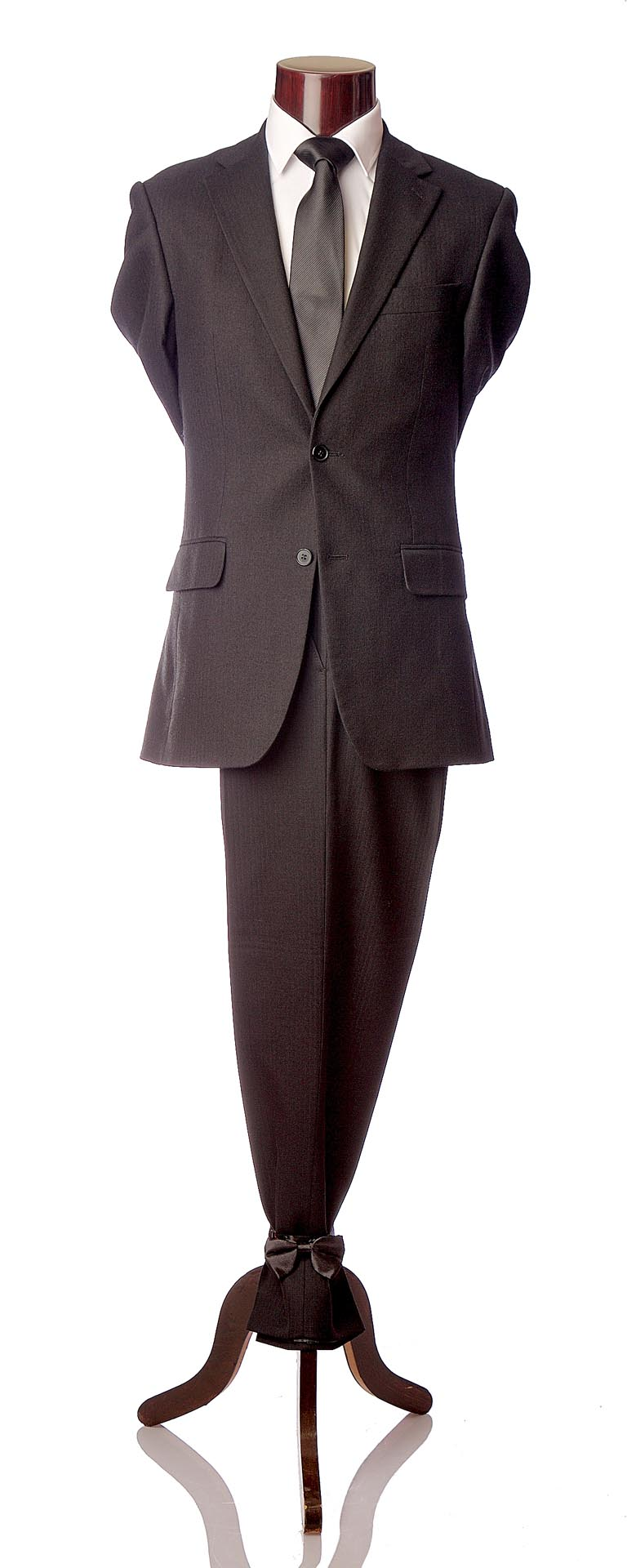 Black Herringbone Wool Suit – Esquire Formal Menswear